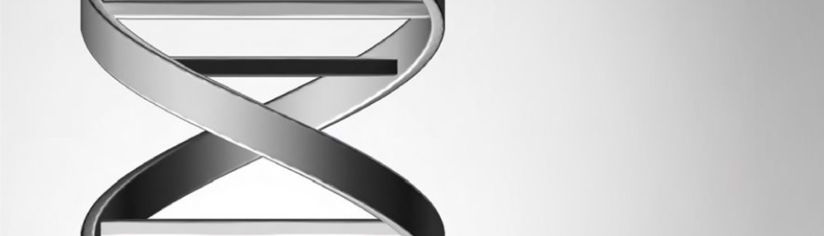 3D rendition of a double helix